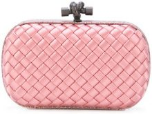 Bottega Veneta - boudoir Intrecciato impero knot - women - Leather/Viscose - OS - PINK & PURPLE