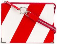 Maison Margiela - diagonal stripe clutch - women - Calf Leather - OS - RED