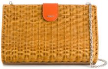 Rodo - basket clutch - women - Cotton/Linen/Flax/Calf Leather/Straw - OS - NUDE & NEUTRALS