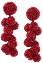 Sachin & Babi - Coconuts earrings - women - glass - OS - RED