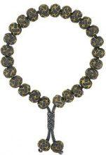 Monan - Braccialetto annodato con perline - women - Gold/Silver - OS - GREEN