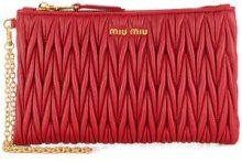 Miu Miu - Borsa Clutch con polsiera - women - Leather - One Size - RED
