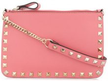 Valentino - Rockstud clutch bag - women - Leather - OS - PINK & PURPLE