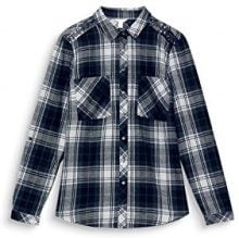ESPRIT 117ee1f017, Camicia Donna, Grigio (Medium Grey 035), 40 (Taglia Produttore: 34)