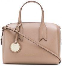 Emporio Armani - charm-detail satchel - women - Polyurethane - OS - NUDE & NEUTRALS