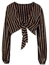 Angelina Stripe Tie Front Blouse