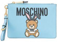 Moschino - Borsa Clutch 'Teddy Playboy' - women - Polyurethane - One Size - BLUE