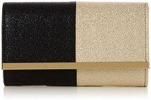 Swankyswans Sam Glitter Color Block - Pochette da giorno Donna, Oro (Black Gold), 6.5x13.2x22.4 cm (W x H x L)