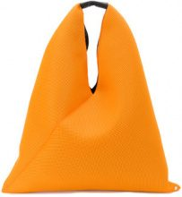 Mm6 Maison Margiela - slouchy tote bag - women - Calf Leather/Polyester - One Size - YELLOW & ORANGE