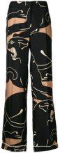 Valentino - Pantaloni di pigiama - women - Silk - S - Nero
