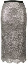 Antonio Marras - metallic lace skirt - women - Polyamide/Cupro/Viscose - 40 - GREY