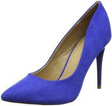 New LookYummy - Scarpe Col Tacco Punta Chiusa Donna, Blu (Blue (Mid Blue)), 36
