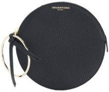 Sara Battaglia - circular clutch - women - Calf Leather - OS - BLACK