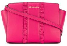 Michael Michael Kors - Borsa messenger 'Selma' - women - Leather - One Size - PINK & PURPLE