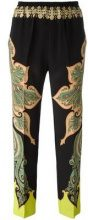 Etro - paisley print trousers - women - Silk/Spandex/Elastane - 42 - BLACK