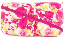 Lulu Guinness - Borsa clutch decorata - women - Leather/Cotone - OS - Rosa & viola