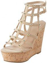Guess Footwear Dress Sandal, Scarpe con Cinturino alla Caviglia Donna, Avorio (Light Natural), 40 EU