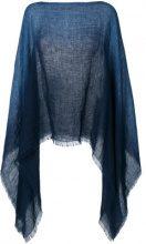 Destin - Poncho di maglia - women - Linen/Flax - OS - Blu