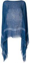 Destin - Poncho di maglia - women - Linen/Flax - OS - BLUE