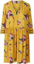 Y.A.S Yellow Floral Mini Dress Women Yellow