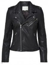 SELECTED Biker - Leather Jacket Women Black