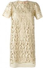Nº21 - embroidered metallic dress - women - Polyester/Viscose/Metallic Fibre - 42 - NUDE & NEUTRALS