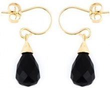 Wouters & Hendrix - onyx earrings - women - Sterling Silver/Onyx - OS - BLACK
