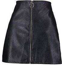 Tasha O Ring Zip Through PU Mini Skirt