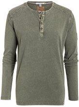 Timezone Basic Henley Longsleeve, T-Shirt Uomo, Verde (Duste Olive 4175), M