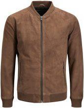 JACK & JONES Luxe Leather Jacket Men Brown
