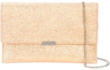 Loeffler Randall - crackled effect envelope clutch - women - Leather - OS - METALLIC