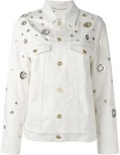 Kenzo - grommet detailed denim jacket - women - Cotton - S - NUDE & NEUTRALS