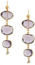 Gas Bijoux - Silene earrings - women - 24kt Gold Plate/Pietra - OS - PINK & PURPLE