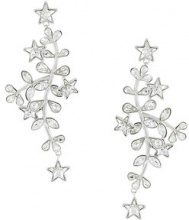 Dsquared2 - Orecchini 'Vine and Star' - women - Crystal/Tin/Brass - One Size - METALLIC