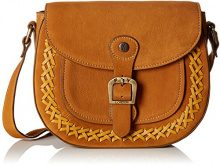 Fly London Zeek602fly - Borse a tracolla Donna, Brown (Honey), 2x20x24 cm (W x H L)