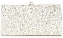 Victoria Beckham - glitter pocket clutch - women - Cotton/Leather/Aramid/Polystyrene - OS - METALLIC