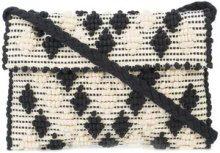 - Antonello Tedde - texture embroidered clutch bag - women - Cotone - Taglia Unica - Nero