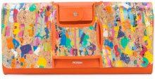 Perrin Paris - La Capitale cork clutch - women - Acetate - OS - Multicolore