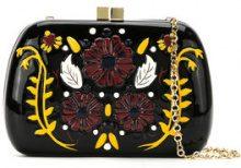 Serpui - 'Lolita' clutch bag - women - wood - OS - BLACK