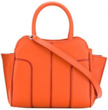 Tod's - Borsa Tote con bordo a contrasto - women - Leather - One Size - YELLOW & ORANGE