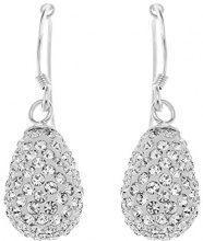 C04CREX00014XX - Orecchini pendenti da donna con cristallo, argento