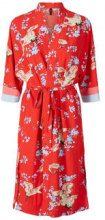Y.A.S Printed Crane Kimono Women Red