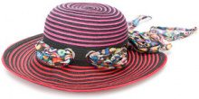 Missoni - Cappello estivo con nastro - women - Polyester/Cellulose - S, M - PINK & PURPLE