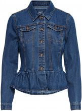 ONLY Frill Denim Jacket Women Blue