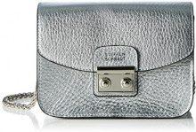 Steffen 571092, Borsa a spalla Donna, Argento (Silver), 6x11x18 cm (B x H x T)