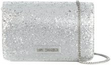 Love Moschino - glitter shoulder bag - women - Polyurethane/PVC - OS - METALLIC