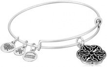 Alex and Ani Braccialetto Estensibile da Donna con Charm in Ottone, Argento