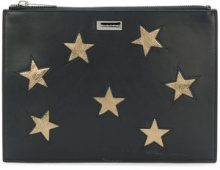 Stella McCartney - Clutch 'Stars' - women - Artificial Leather - OS - Nero