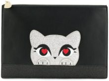 Karl Lagerfeld - K/Love pouch - women - Leather - One Size - BLACK
