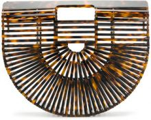 Cult Gaia - Borsa clutch Acrylic Ark - women - Acrylic/Bamboo - One Size - BROWN